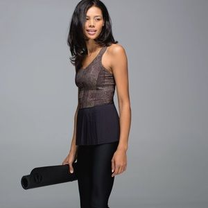 LULULEMON |City Tank Golden Goddess Cashew/Black